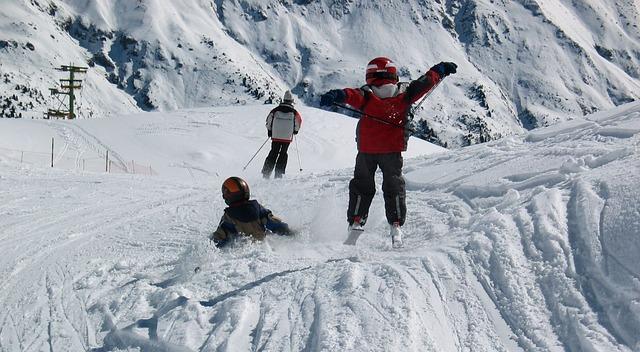 lyžování s dětmi