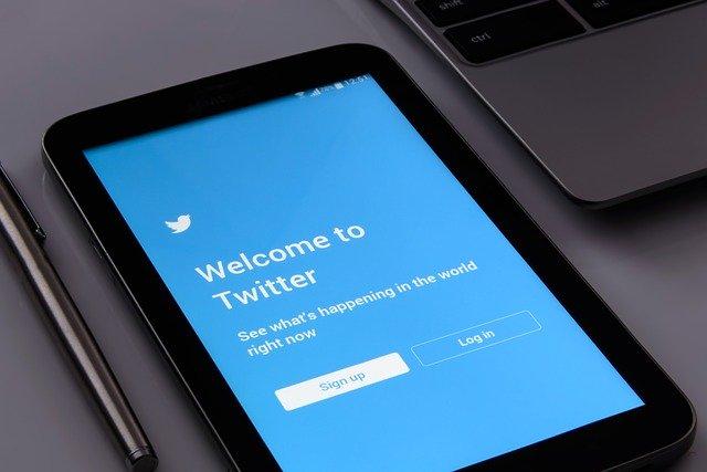 přihlašovací obrazovka Twitteru